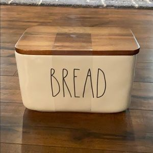 Rae Dunn Dining - Rae Dunn bread box with wood lid brand new